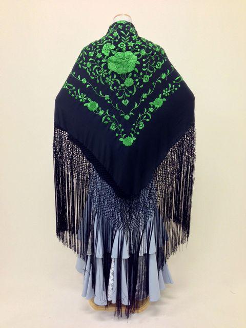 【RPK-2-24】黒×緑刺繍