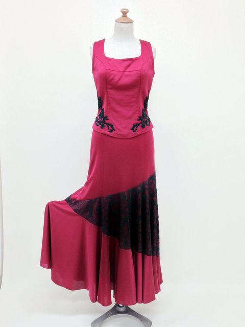 ☆RBL-12-2/RSK-18-1 スクエアネック裾サイドモチーフブラウス&レース切り替えスカート