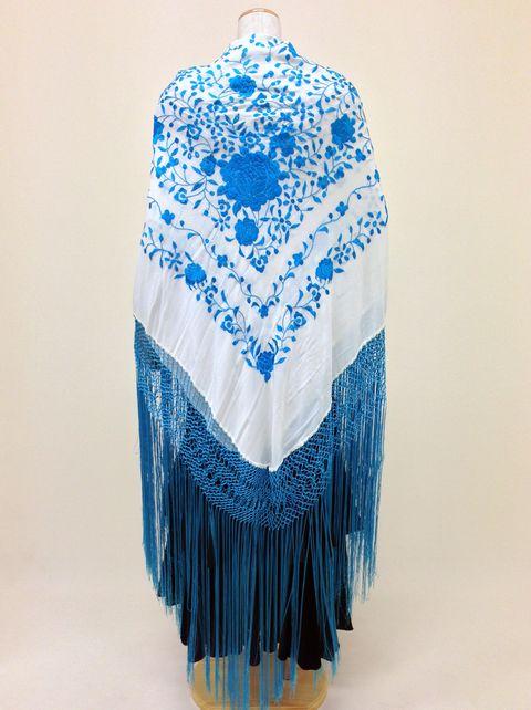 【RPK-2-35】白×青刺繍