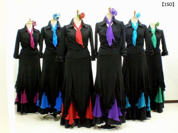 【1SO】カシュクール&さし色スカート