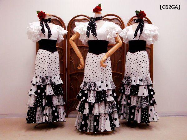 【C61GA】白セビブラウス×ハギハギスカート
