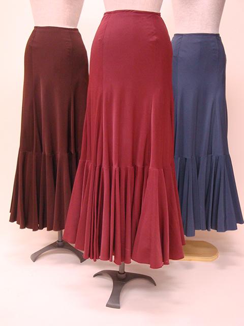 ☆【RSK-12】スモーキーカラー1段ロングボランテスカート