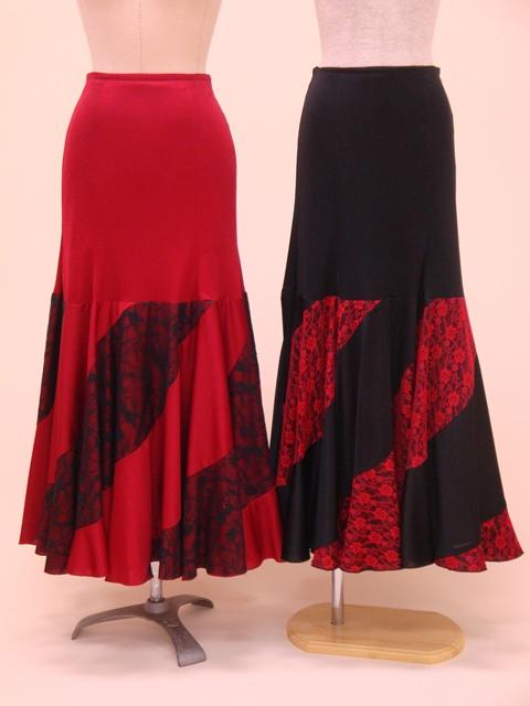 ☆【RSK-16-1・16-2】レース切替スカート(裾エスカルゴ)