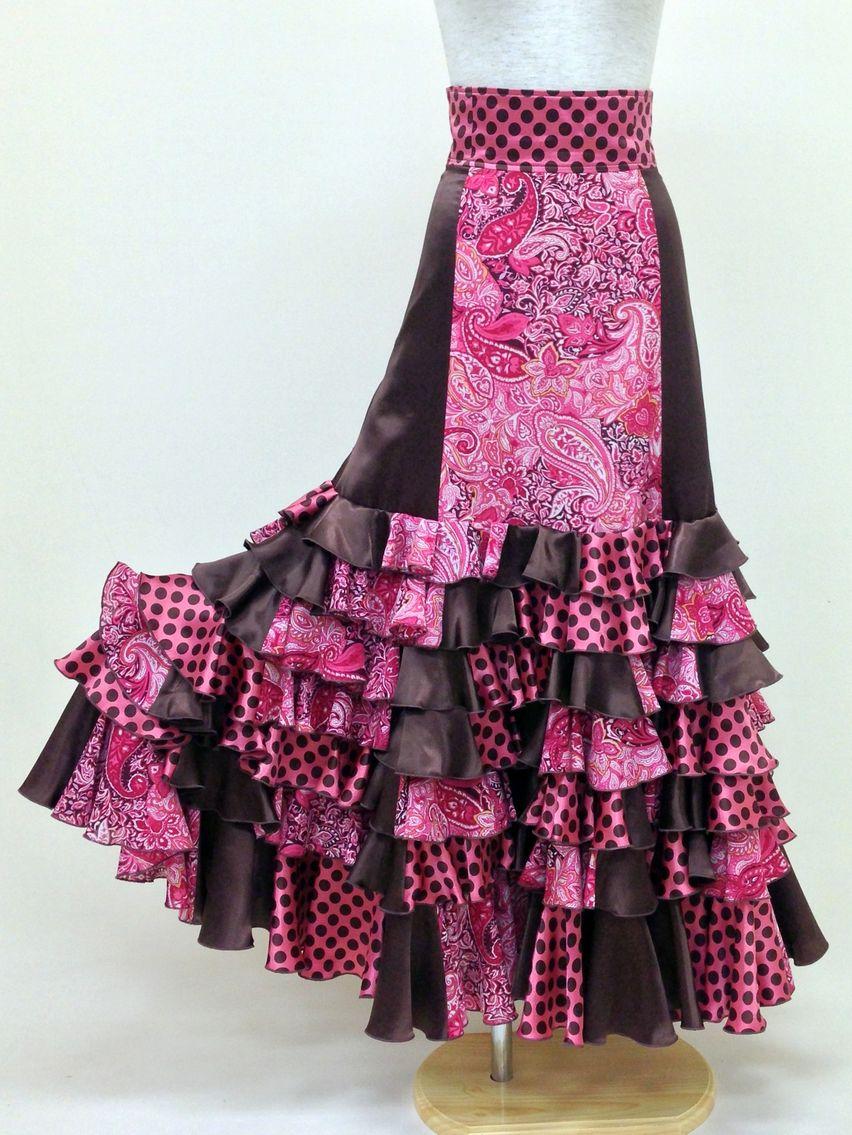 ☆【RSK-50-PI】エキゾチックペイズリースカート
