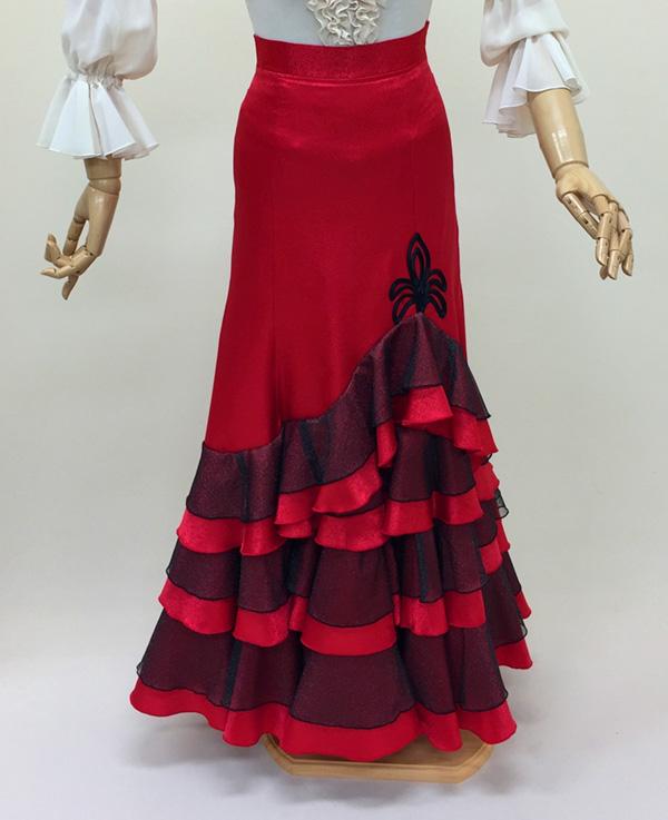 【RSK-69-3】赤黒のカルメンスカート(赤)