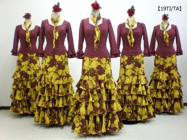 【19TI/TA】ブラウス&存在感のある花柄スカート