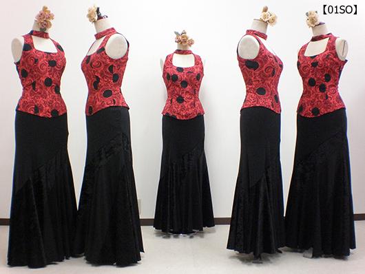【01SO】デコルテ美のブラウス&マーメイドスカート