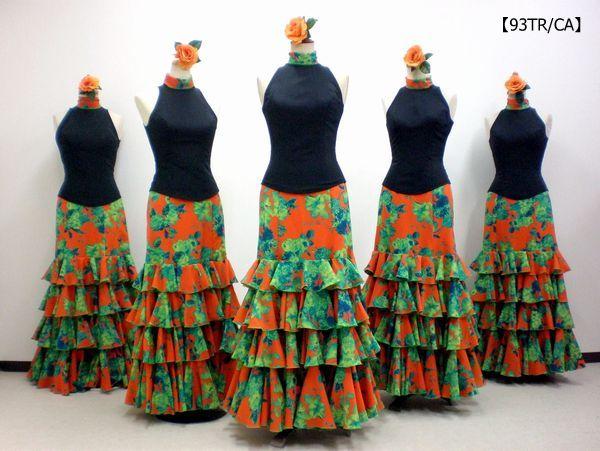 【93TR/CA】アメリカンスリーブブラウス&花柄スカート
