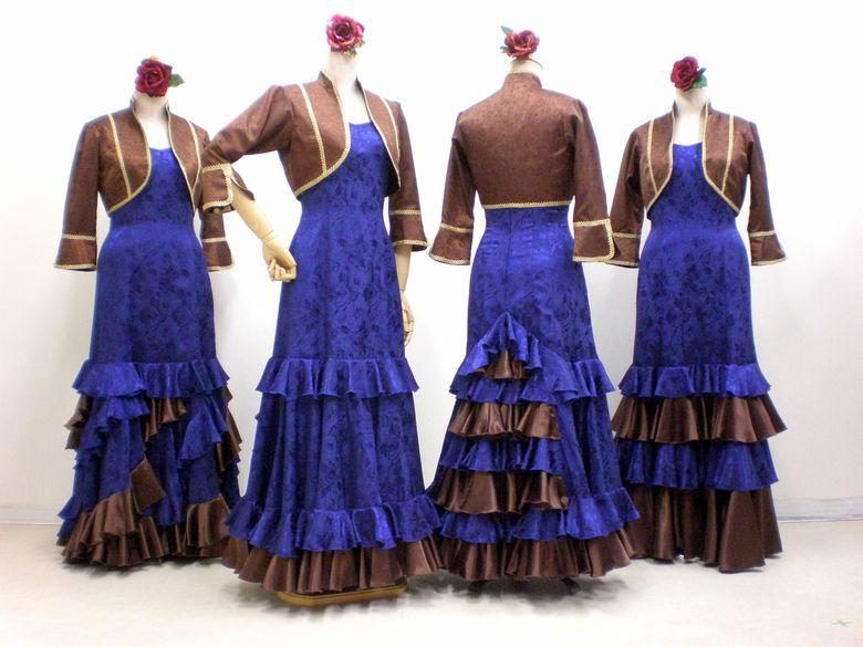 9df7cbd6d0ff4 C71 茶色ジャケット&ナス紺ワンピース - フラメンコドレス衣装の ...