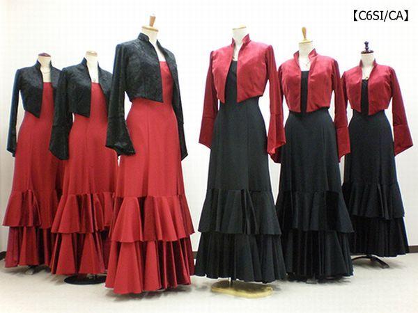 【C6SI/CA】ジャケット&赤黒ワンピース