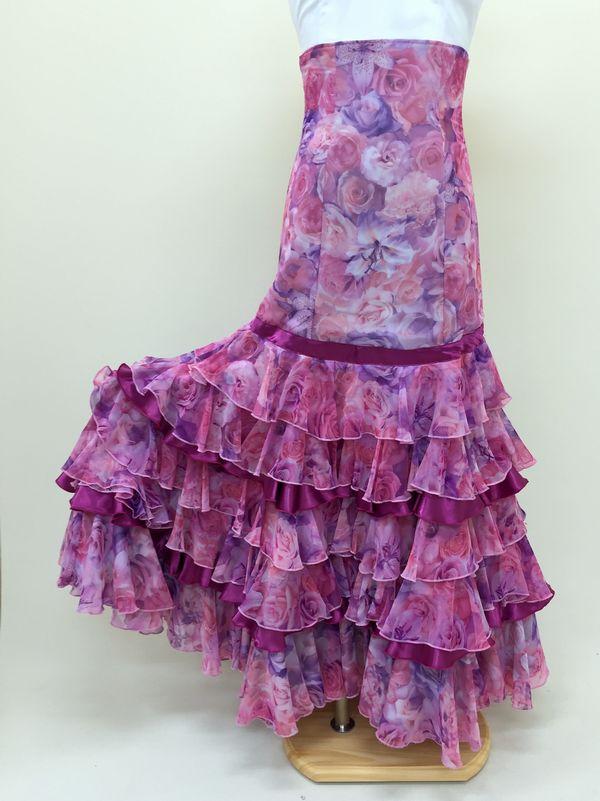 【RSK-61-1】ぼかし花柄スカート