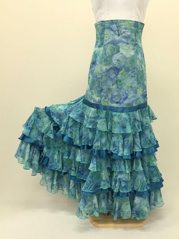 【RSK-61-2】ぼかし花柄スカート