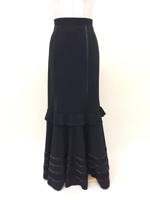 【RSK-68-1】ニットスレンダースカート(黒)