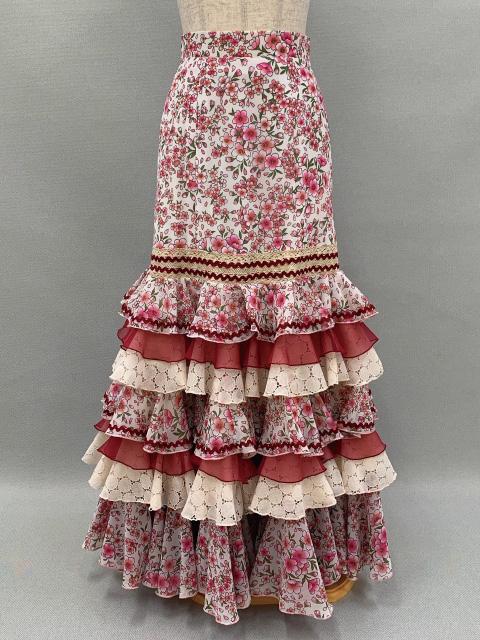 【RSK-82-1】ピンク桜柄スカート