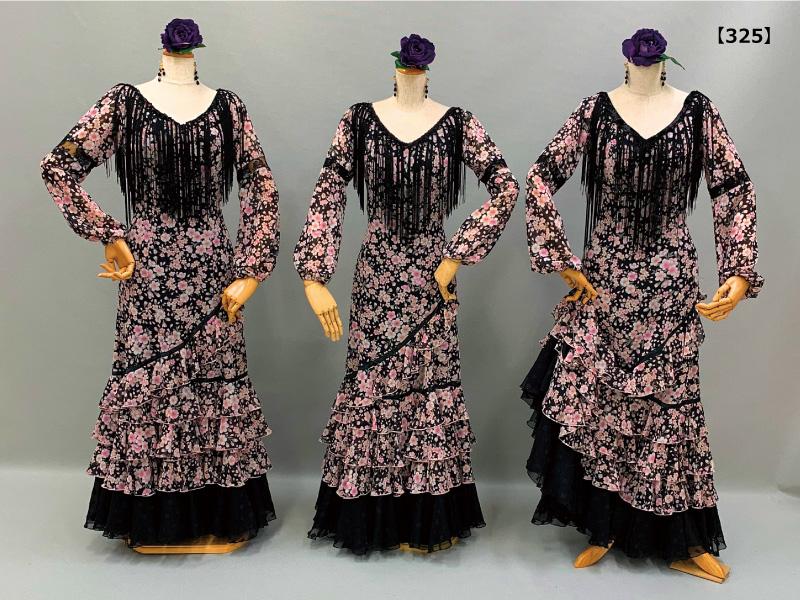 【325】夜桜柄のブラウス&ハイウエストスカート